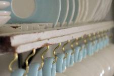 DIY shutter plate and mug rack