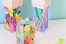 DIY acrylic storage organizers