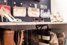 DIY acrylic purse organizers