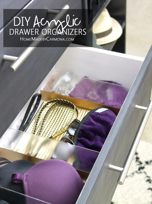 DIY custom acrylic drawer organizer
