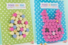 DIY 'poke a bunny' Easter game for kids