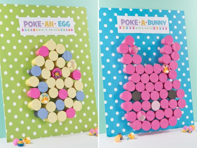 DIY 'poke a bunny' Easter game for kids (via www.fun365.orientaltrading.com)