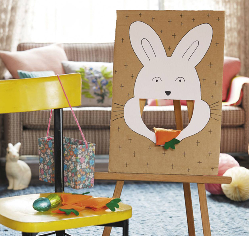 DIY Easter game with feeding a bunny (via www.essentials.co.za)