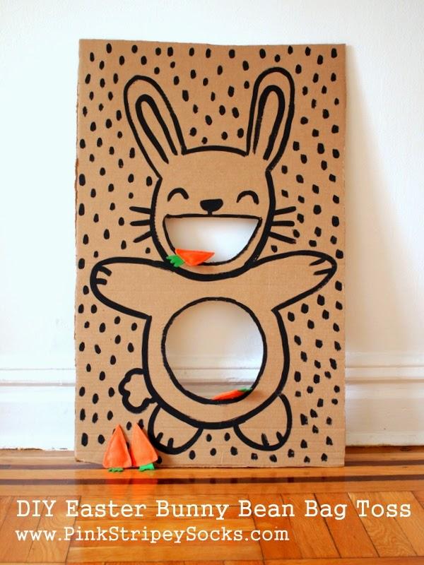 DIY Easter bunny bean bag toss