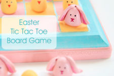DIY colorful tic tac toe game for Easter