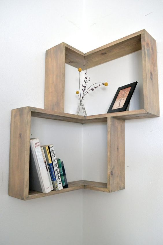 corner box shelves don't look bulky still providing storage space