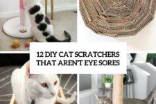 12 diy cat scratchers that aren't eye sores cover
