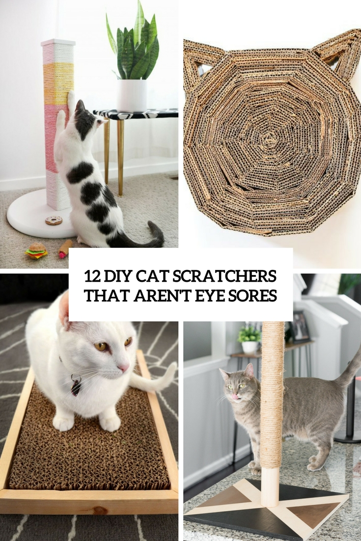 diy cat scratchers that aren't eye sores cover