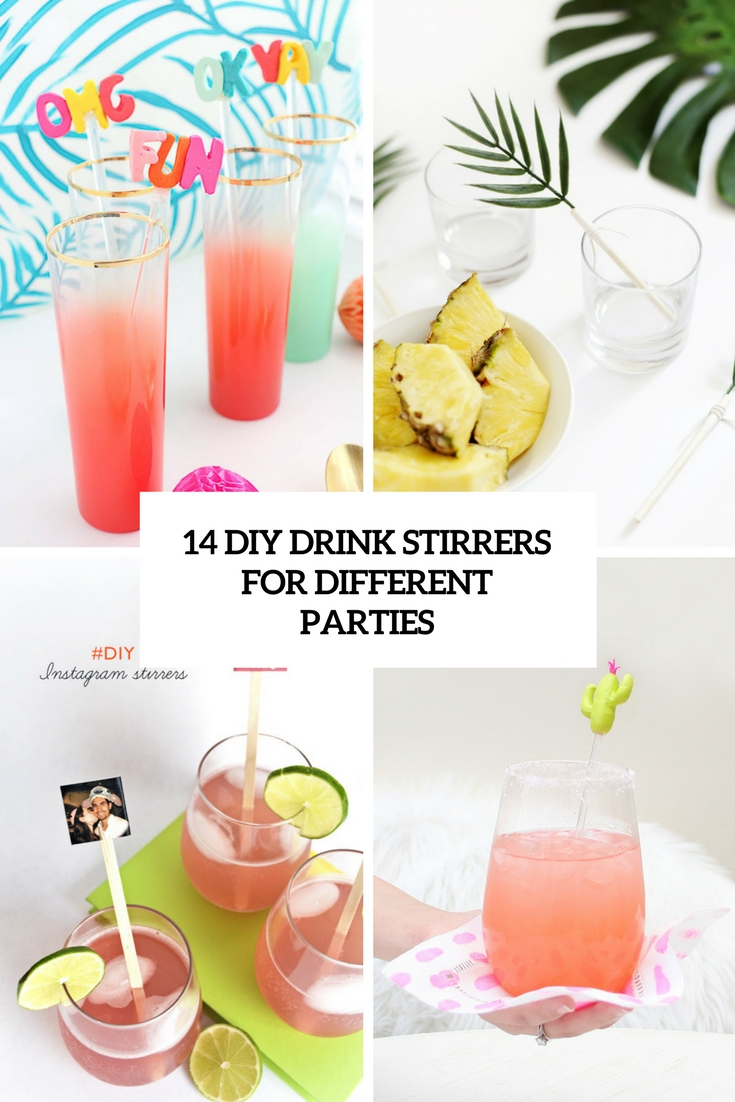14 DIY Drink Stirrers For Different Parties