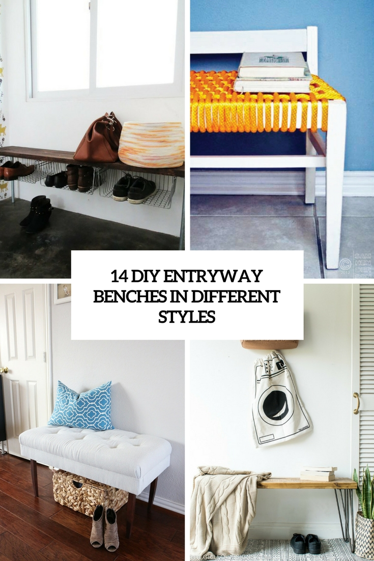 14 DIY Entryway Benches In Different Styles
