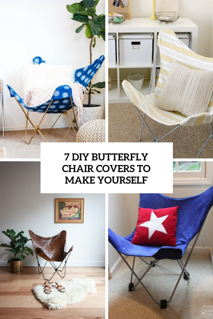 Picture of 7 diy butterfly chair covers to make yourself cover for Build your house