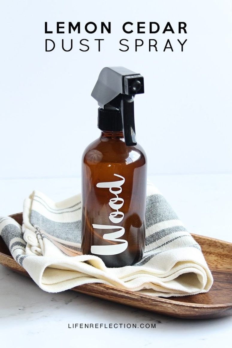 DIY lemon and cedar dust spray (via www.lifenreflection.com)