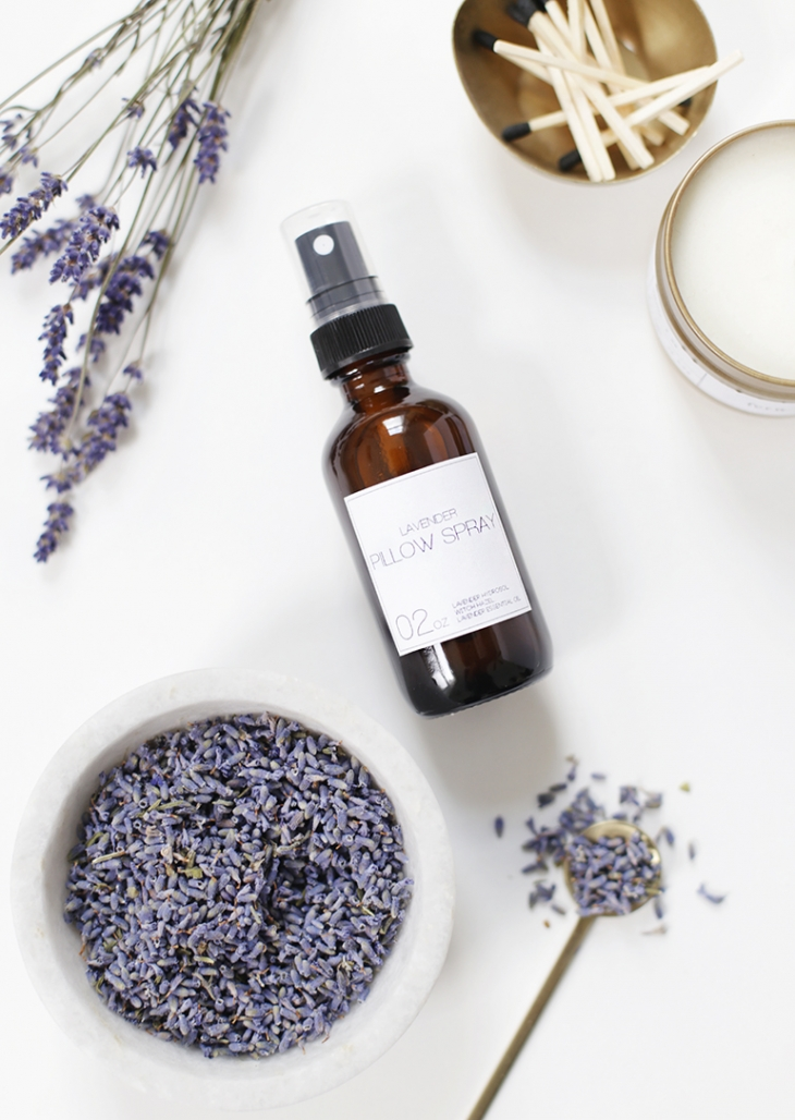 DIY lavender pillow spray with hydrosol (via themerrythought.com)