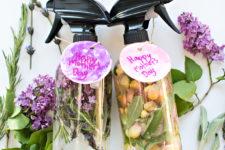 DIY floral and herb room sprays