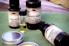 DIY spring aroma sprays of essential oils