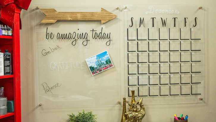 DIY small acrylic calendar (via www.hallmarkchannel.com)
