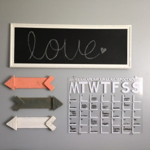 DIY small acrylic calendar in black and white (via createdforyoueverything.com)