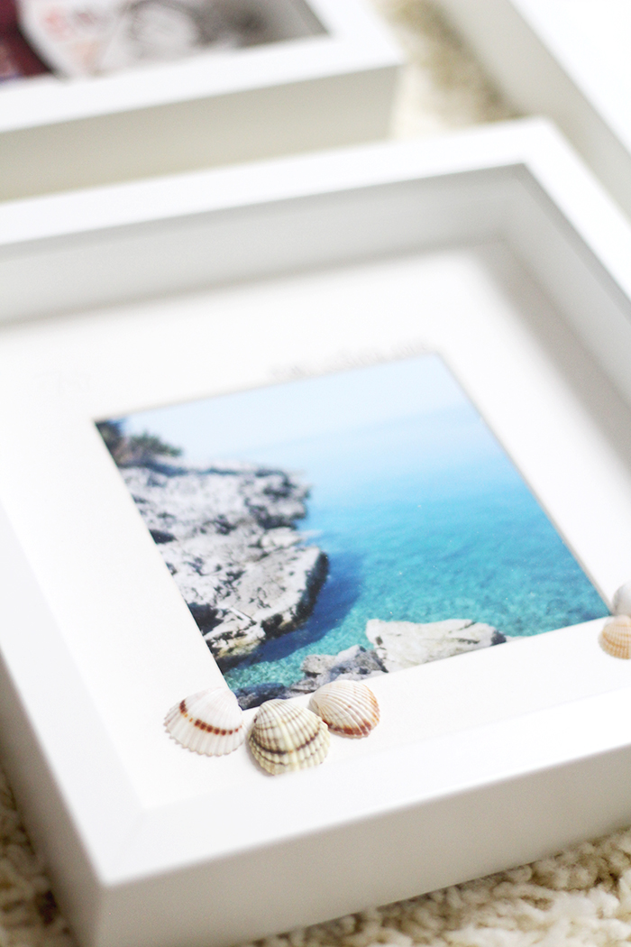 DIY modern travel shadow boxes with personal photos (via www.provinzkindchen.com)