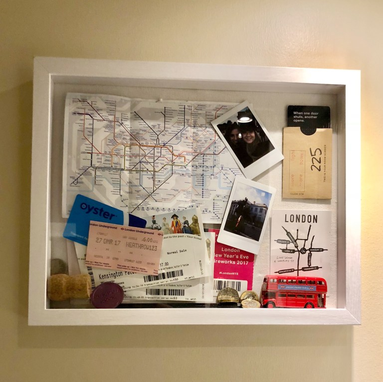 DIY messy large scale London shadow box  (via laurenregina.com)