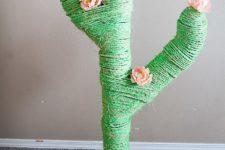 DIY cactus sisal rope scratcher