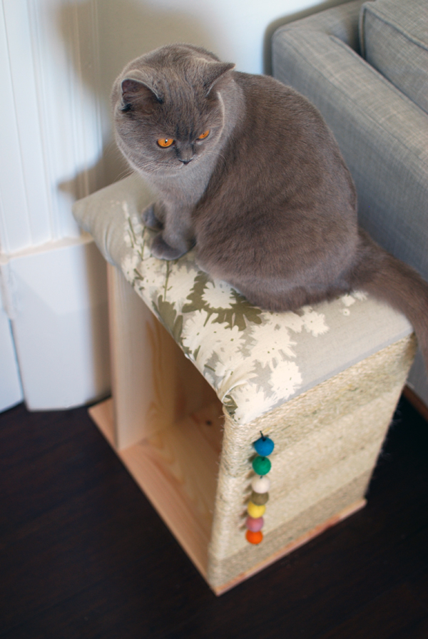 DIY IKEA Rast hack into an ottoman scratcher (via www.we-are-scout.com)