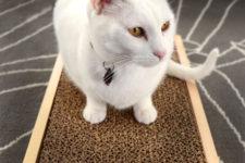 DIY cardboard in a box cat scratcher