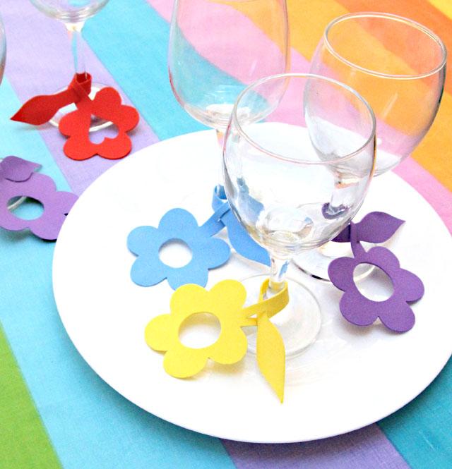 DIY colorful craft foam flower charms (via www.creativejewishmom.com)