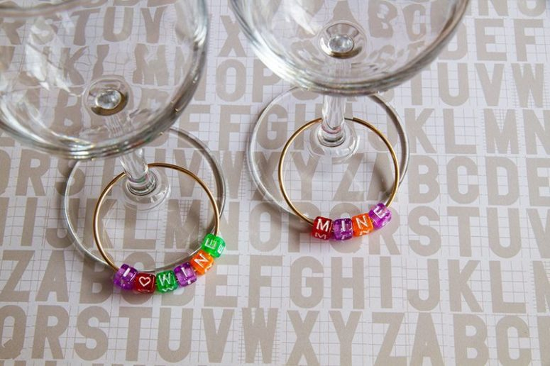 DIY colorful beads with letters glass charms (via erynwithay.typepad.com)