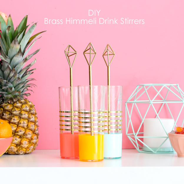 DIY himmeli brass tubing drink stirrers