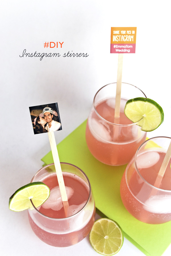 DIY Instagram photo drink stirrers (via ruffledblog.com)