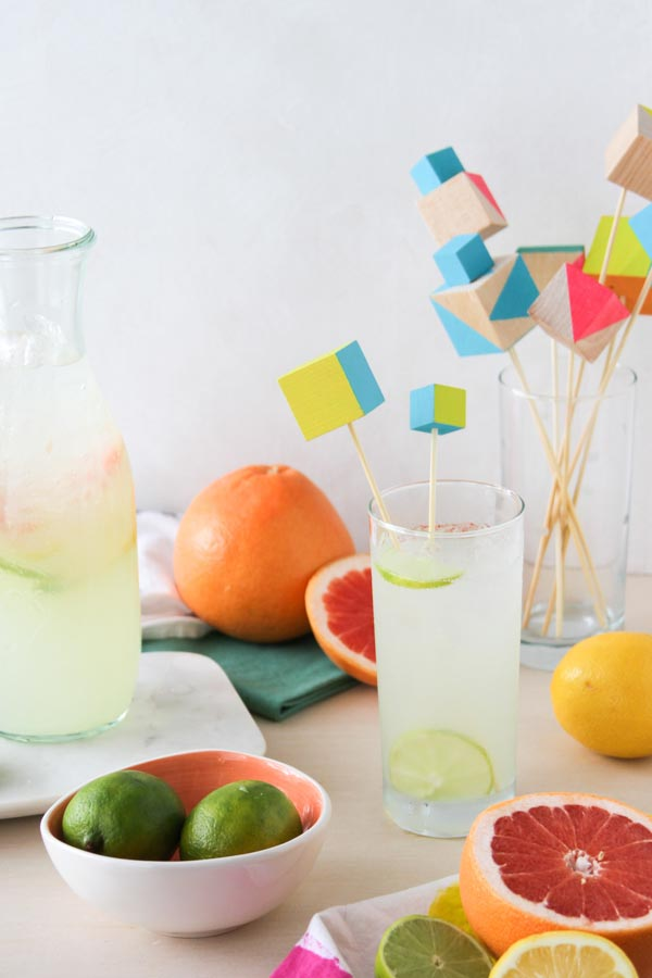 DIY wooden cube drink stirrers (via crafts.tutsplus.com)