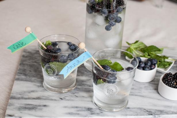DIY adhesive paper drink stirrers (via www.hgtv.com)