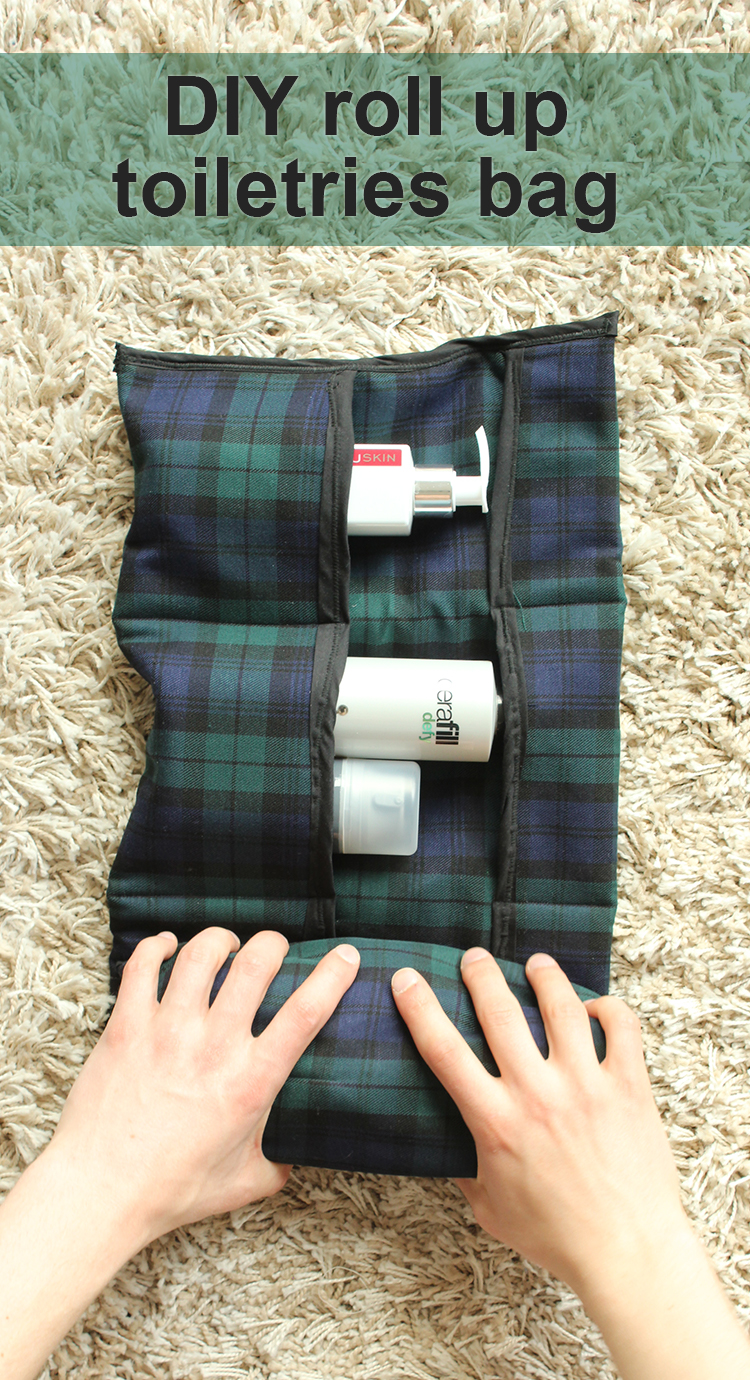 DIY roll up toiletries bag with pockets (via www.thecraftygentleman.net)
