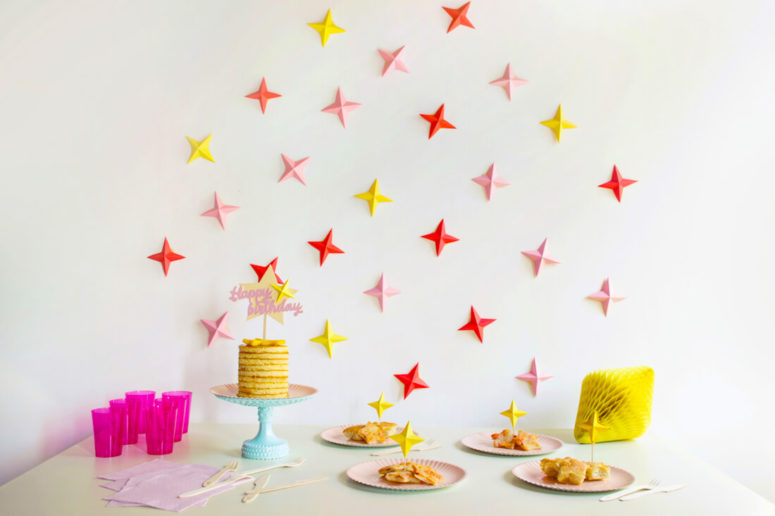 DIY star themed party backdrop (via stylingpaperstudio.com)