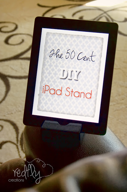 DIY little wooden tablet stand (via www.redflycreations.com)