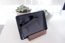 DIY basswood tablet stand