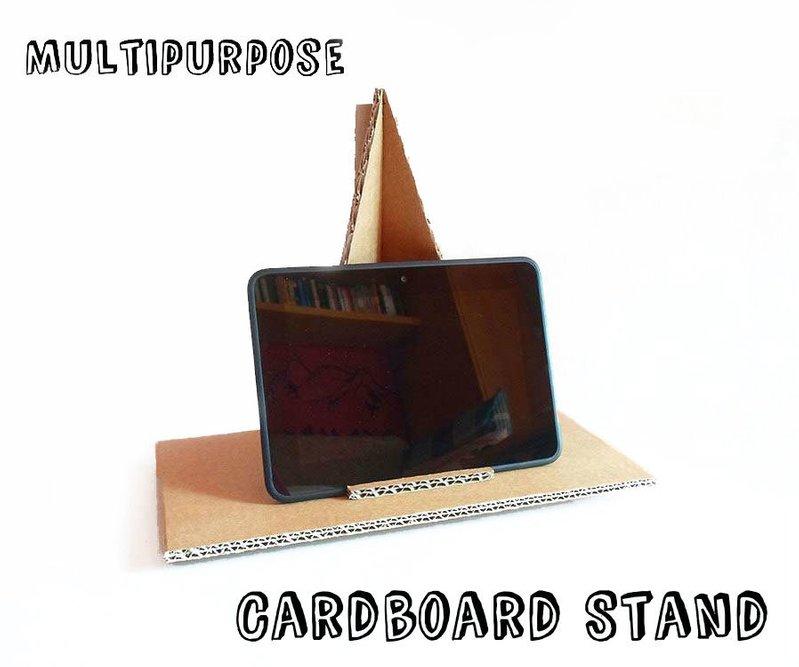 DIY multipurpose cardboard tablet stand
