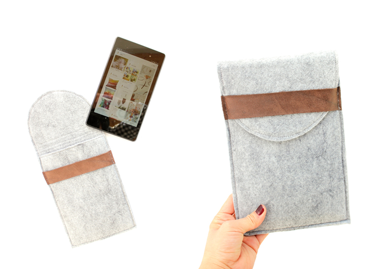 DIY felt and leather tablet case (via www.deliacreates.com)