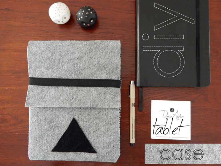 DIY minimalist grey felt case (via decorasylum.blogspot.ru)