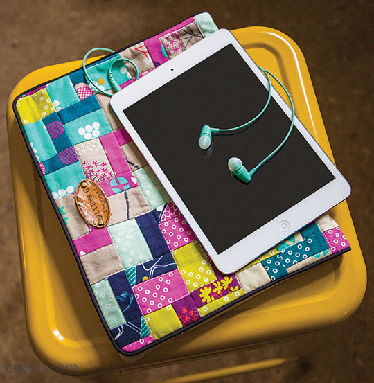 DIY colorful patchwork tablet case (via www.ctpub.com)