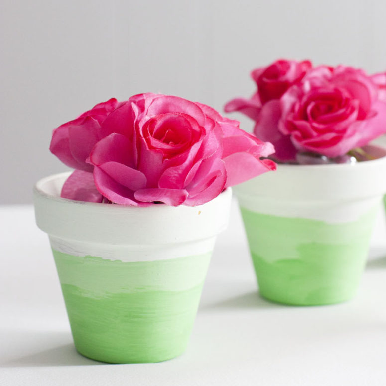 DIY mini ombre painted pots (via smallstuffcounts.com)