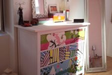04 IKEA Hemnes redone with colorful adhesive paper for a bright and cheerful kids' room