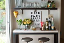 cool DIY mini home bar