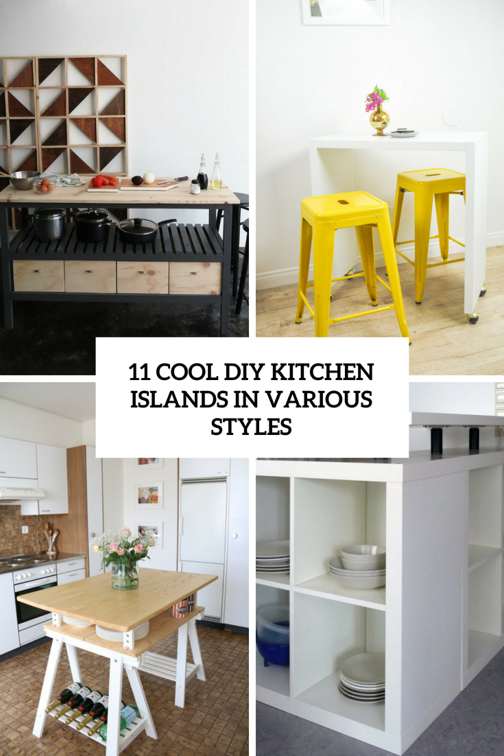11 Cool DIY Kitchen Islands In Various Styles
