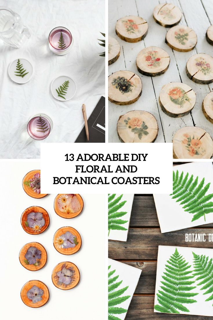 13 Adorable DIY Floral And Botanical Coasters