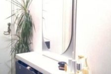 14 build a floating vanity for an entryway using two Lack shelves and some boxes for storage