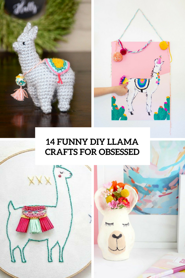 funny diy llama crafts for obsessed cover