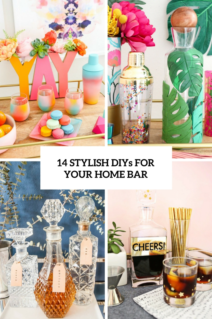 14 Stylish DIYs For Your Home Bar