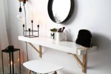 16 IKEA Lack shelf turned into a comfy Scandinavian wall-mounted vanity is a chic solution