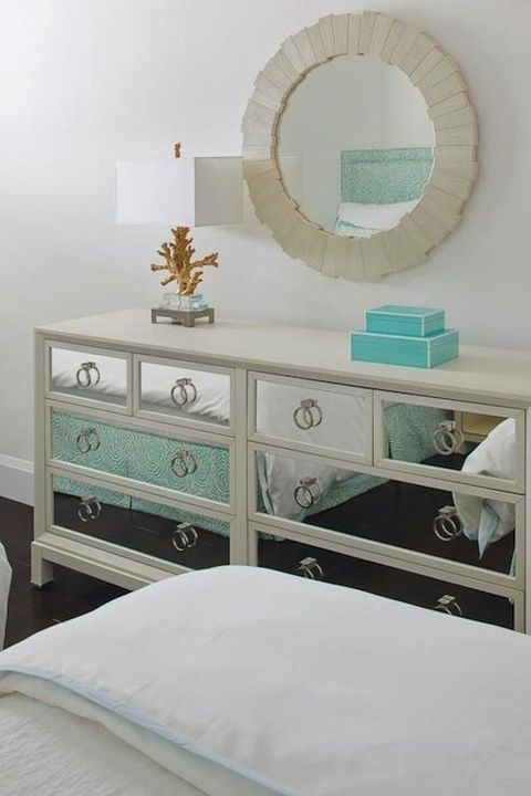 a super glam Hemnes hack with a mirror finish and ring pulls for a chic and shiny touch
